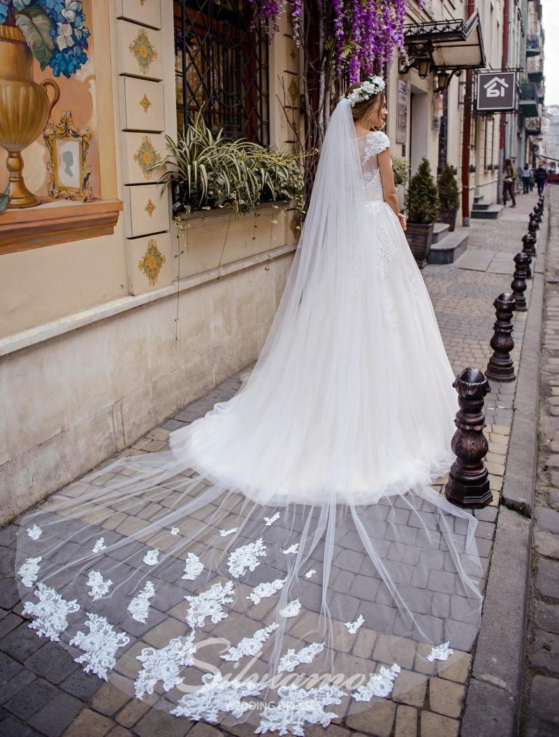 Huwelijkssluier Silviamo F-047
