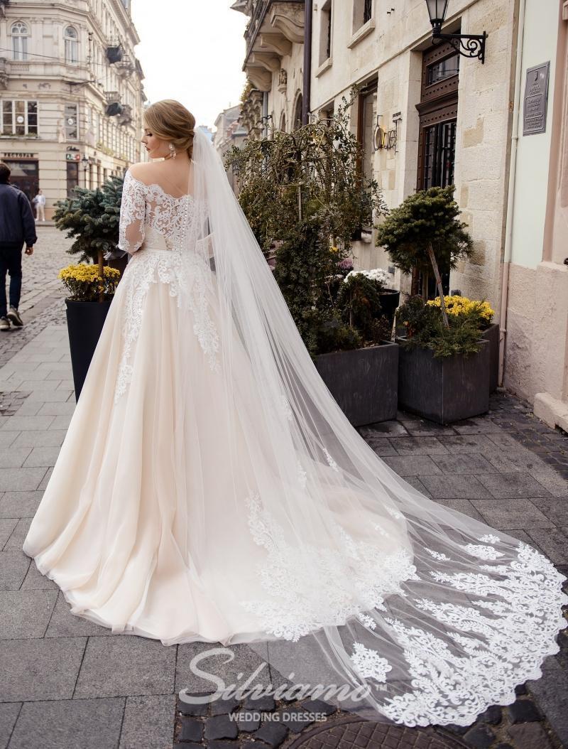 Svatební závoj Silviamo F-049