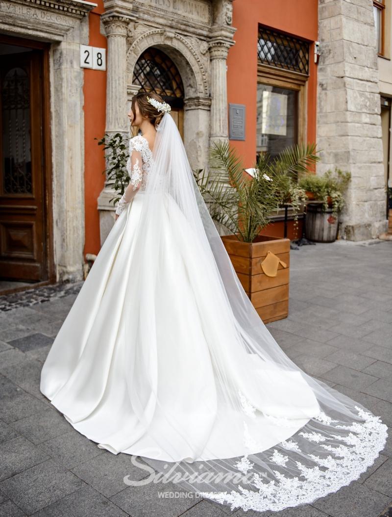Svatební závoj Silviamo F-055
