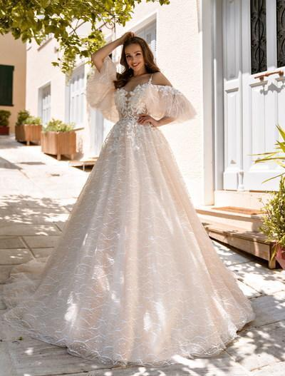 Wedding Dress Supernova SN-104-Goldie