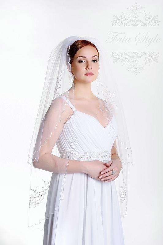 Welon ślubny Fata Style Роза