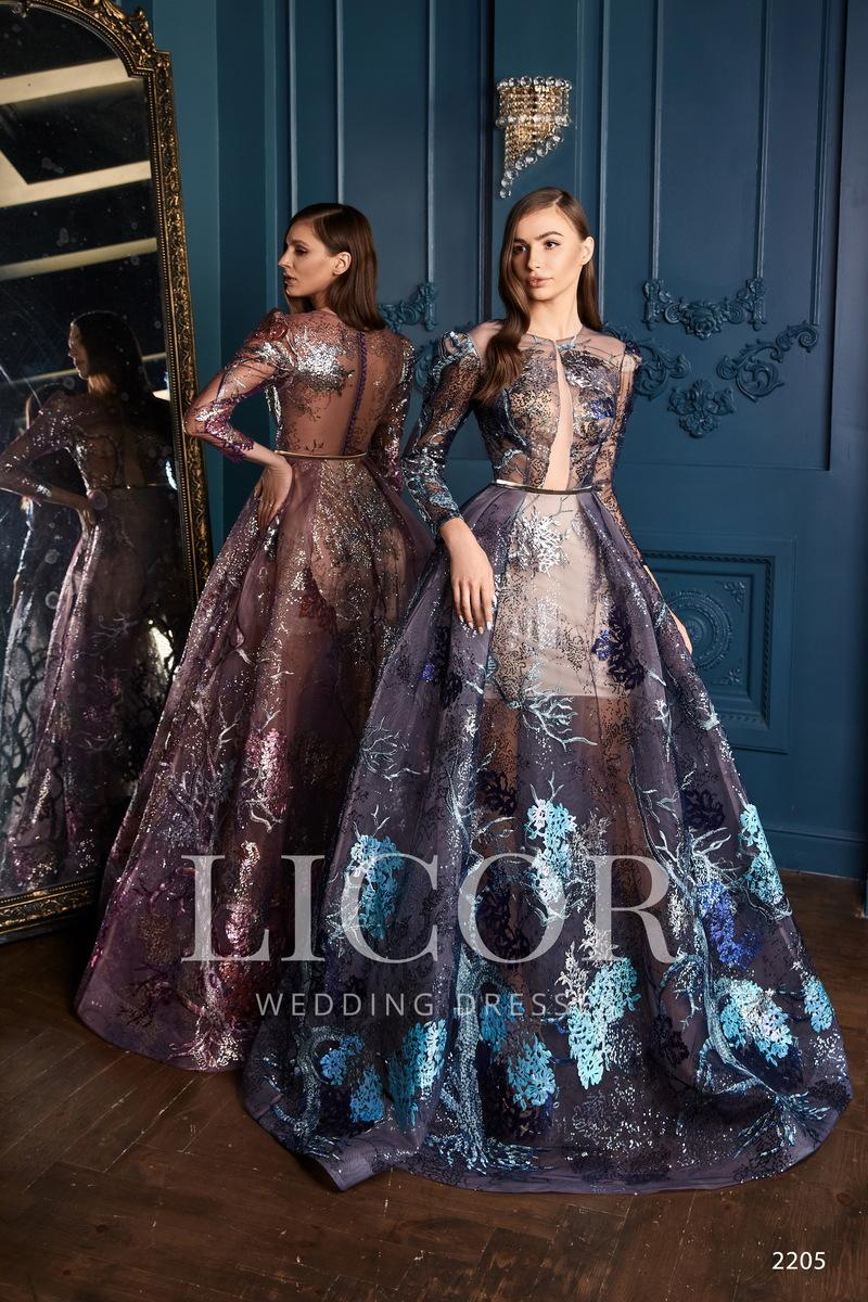 Vestido de noche Licor 2205